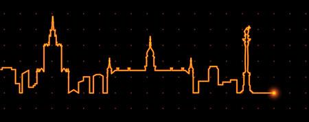 Warschau Licht Streak Profil