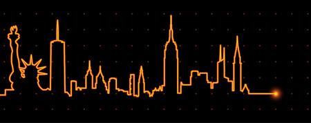 New York Light Streak Profile