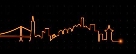 San Francisco Light Streak Profile