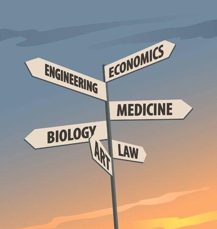 career choices: Career choices Illustration
