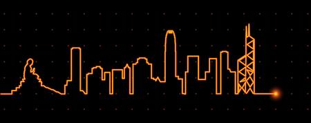 香港光ストリーク プロファイル