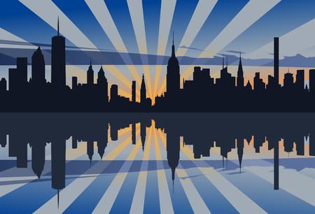 ニューヨークの夕日プロファイル