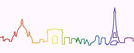 Paris Gay-Friendly Silhouette
