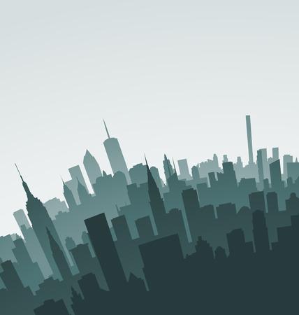 ニューヨークのスカイラインのランドマーク