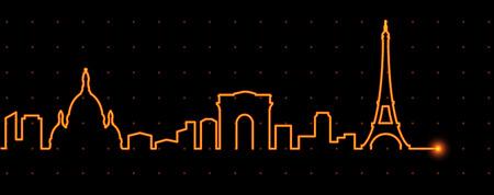 in profile: Paris Light Streak Profile