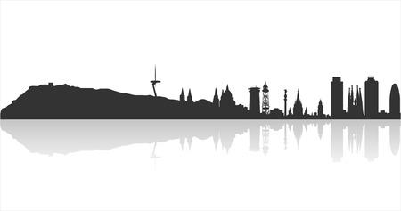 Barcelona Highly Detailed Skyline