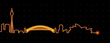 in profile: Sydney Light Streak Profile