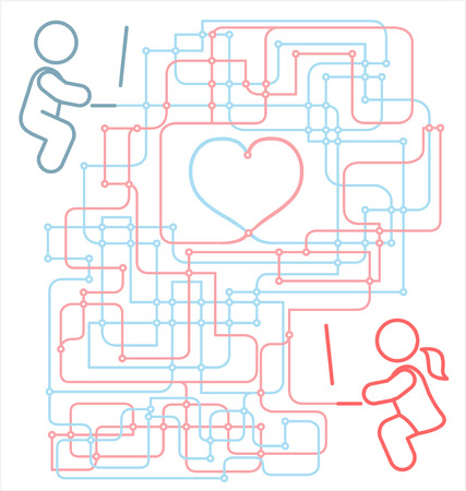 Internet Long Distance związku Ilustracje wektorowe