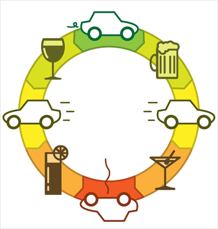 distract: Drinking and Driving Illustration