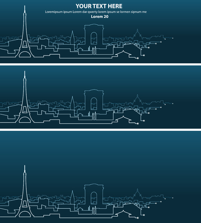 light streaks: Paris Multiple Light Streaks Silhouette