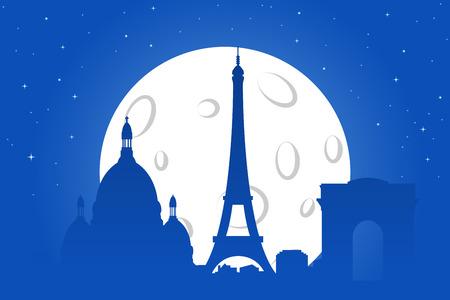 paris night: Paris Night Silhouette