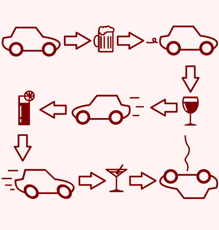 dui: Alcohol and Driving Illustration