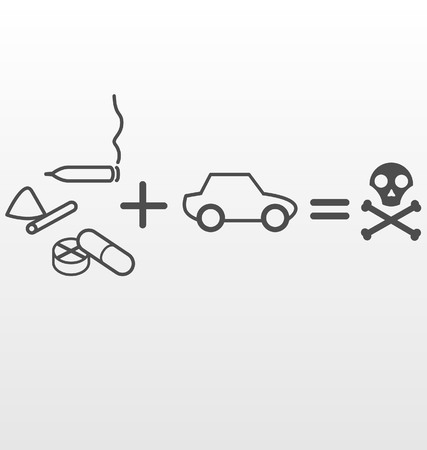 Drugs and Driving Illustration
