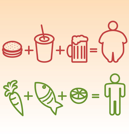 excess: Obesity and Diet Illustration