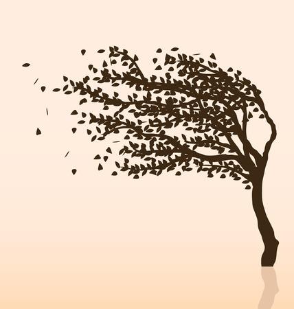 Tree and Wind Illustration