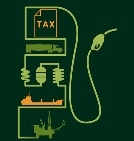 fuel pump: Petroleum Distribution and Price Fuel Pump Illustration