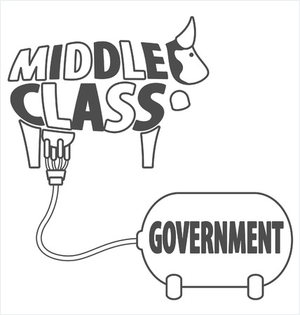 middle: Middle class and government - Transparent background
