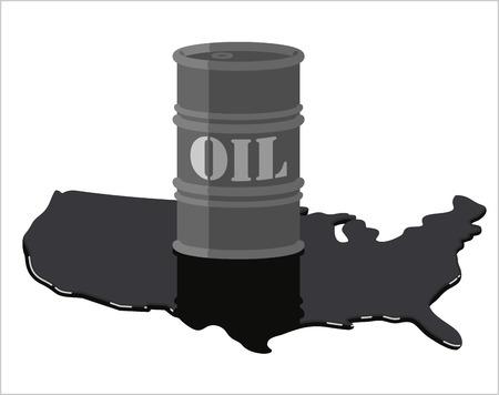 アメリカ合衆国石油生産量  イラスト・ベクター素材