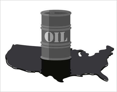 United States Oil Production Overvloed Stockfoto - 57327497