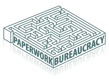Papierkram und Bürokratie