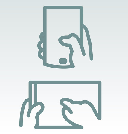 smartphone icon: Phone and Tablet Use Simple Icons Illustration