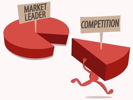 steal: Market Share Competition Illustration