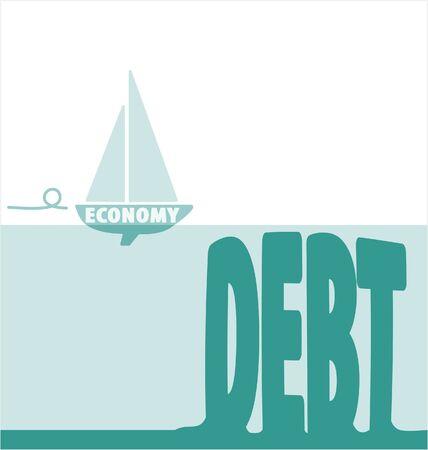 Economy and Debt Illustration