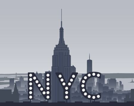 midtown: New York City Sight and Sign Illustration