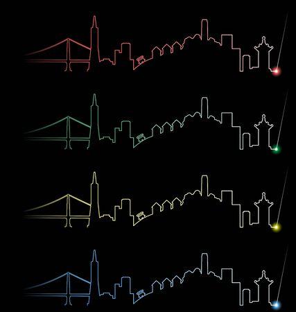 San Francisco meerdere kleuren Lichtstraal Profiel