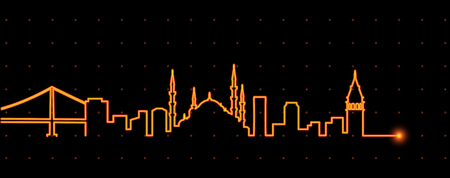 Istanbul Light Streak Profile