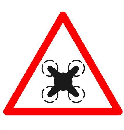 danger: Drone Danger Sign