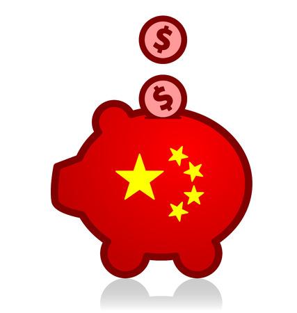 purchase: China Dollar Purchase Illustration