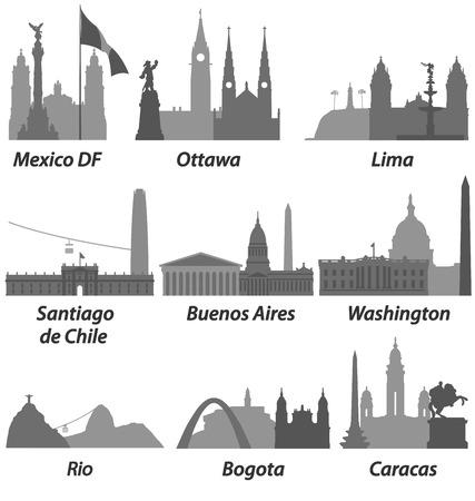 santiago: Cities of America Landmarks