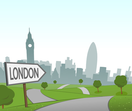 hill distant: Road to London Illustration