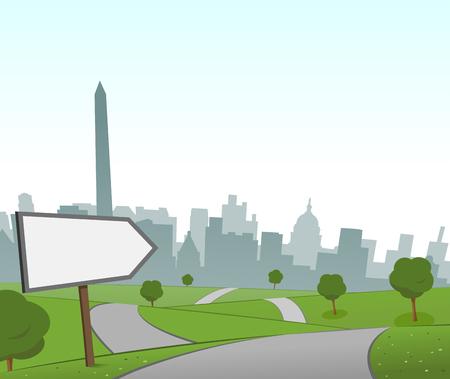 hill distant: Road to Washington Illustration