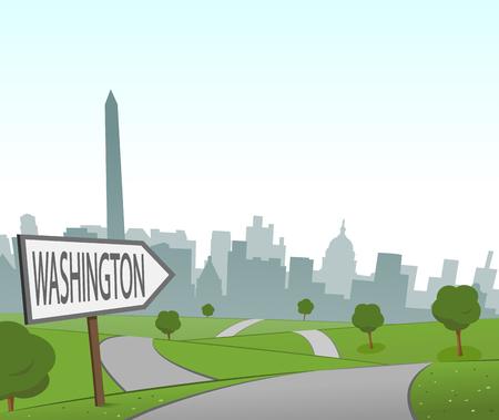 Road to Washington Illustration