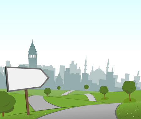 hill distant: Road to Istanbul Illustration