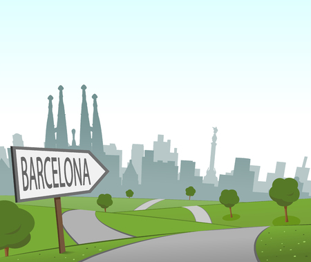 hill distant: Road to Barcelona