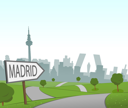 hill distant: Road to Madrid