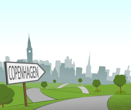 hill distant: Road to Copenhagen Illustration