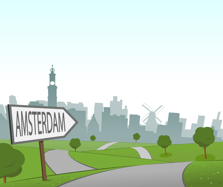hill distant: Road to Amsterdam