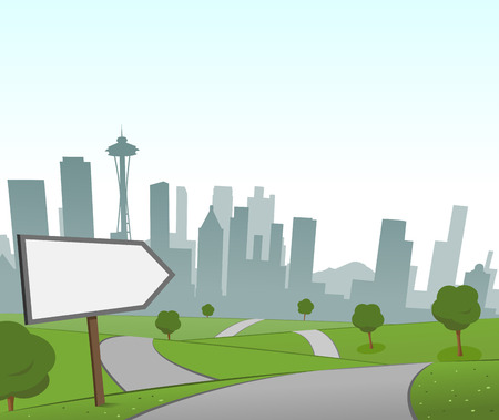 Road to Seattle Illustration