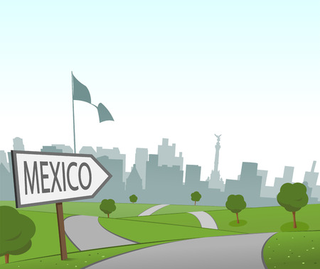 rural road: Road to Mexico Illustration