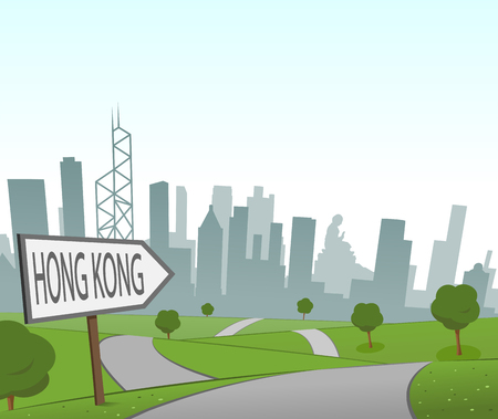 hill distant: Road to Hong Kong