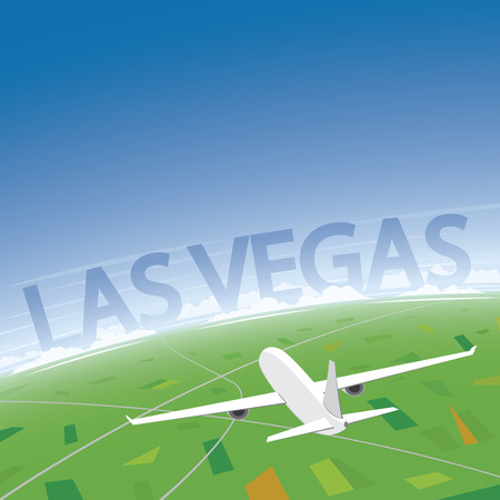 Las Vegas Flight Destination Illustration