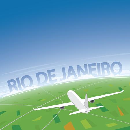 conventions: Rio de Janeiro Flight Destination Illustration