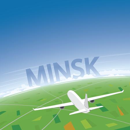 minsk: Minsk Flight Destination Illustration