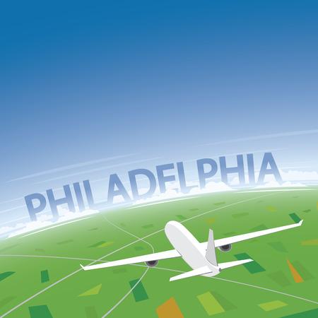Philadelphia Flight Destination Ilustrace