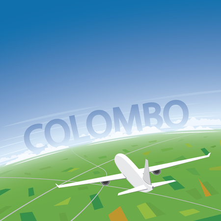 colombo: Colombo Flight Destination Illustration