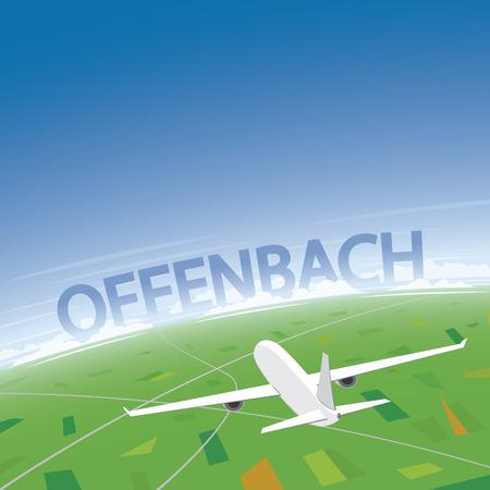 Offenbach Flight Destination Illustration